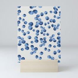 'Watercolor Blueberries Colorways'- Pattern Mini Art Print
