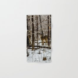 Deer in the Glistening Forest by Teresa Thompson Hand & Bath Towel