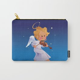 Cute Christmas  baby angel playing violin Carry-All Pouch
