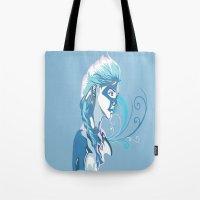elsa Tote Bags featuring Elsa by Lemonysplit