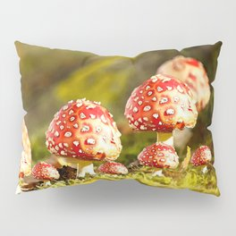 Beautiful but toxic - Fly agaric - Amanita - Autumn illustration - #society6 #buyart Pillow Sham