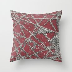 Sparkle Net Red Throw Pillow