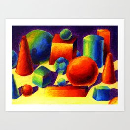 Shapes and Shapes and Shapes Art Print
