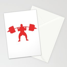 Heavy Powerlifting design For Body Builders  graphic Stationery Cards