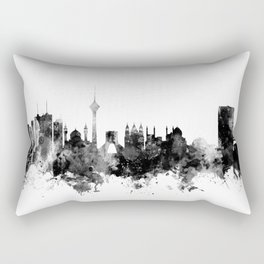 Tehran Iran Skyline Rectangular Pillow