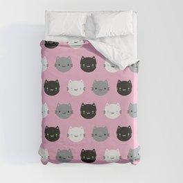 Cute Cats & Kawaii Kittens (Pink) Duvet Cover
