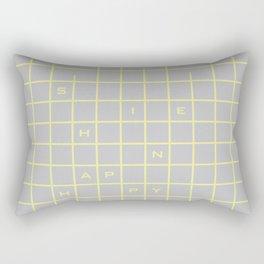 happy yellow graph Rectangular Pillow