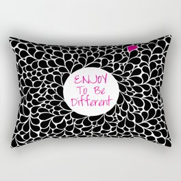 Enjoy to be Different Rectangular Pillow
