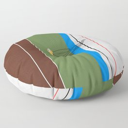 Cycling Sprinter  Floor Pillow