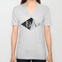 Drawing Arrows (Diamond Black) Unisex V-Neck