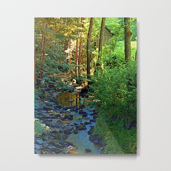 Forest, a river, a valley and summertime Metal Print