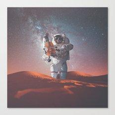 Sahara Violinist Canvas Print