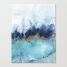 Mystic abstract watercolor Canvas Print