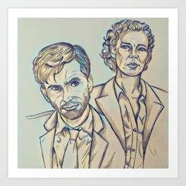 Alec and Ellie (Broadchurch) Art Print