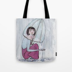 reaching out from within Tote Bag