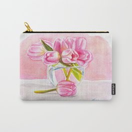 Tulips in a vase Carry-All Pouch
