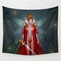 elf Wall Tapestries featuring Forest Elf by Samera Tseng