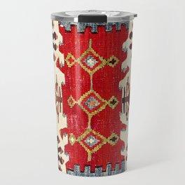 Burdur  Antique South West Anatolia Turkish Kilim Print Travel Mug
