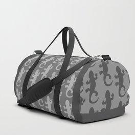 Whtie and Grey Lizard Duffle Bag