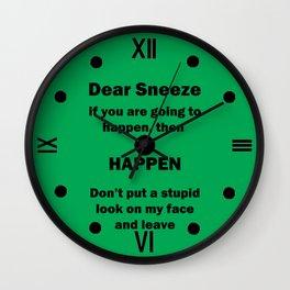 Dear Sneeze Wall Clock