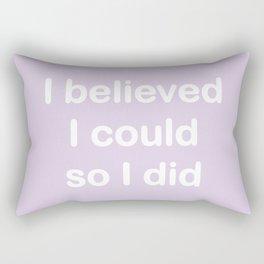 I believed - light lavender Rectangular Pillow