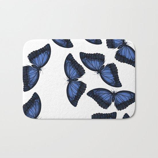 Butterfly Pattern Bath Mat