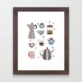 Coffee and Tea Framed Art Print