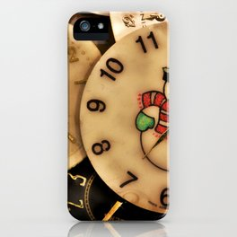 Vintage TimePieces Displaying a SnowMan Face iPhone Case