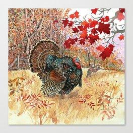 Woodland Turkey Canvas Print