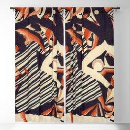 Harlem Renaissance Masterpiece 'Interpretation of Harlem Jazz 1' by Weinold Reiss Blackout Curtain