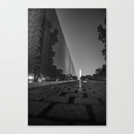 Washington Monument with Vietnam Wall Memorial Canvas Print