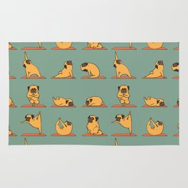 Pug Yoga Rug