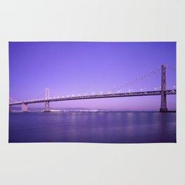 San Francisco - Oakland Bay Bridge at Night Rug