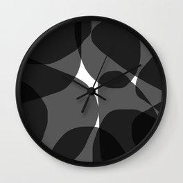 Black & White Organic Abstract Wall Clock