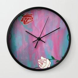 2 Roses Wall Clock