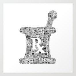 Pharmacy, pharmacy sign, medical, medicine, doctor gift: PANACEA Art Print
