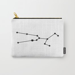 Taurus Star Sign Black & White Carry-All Pouch