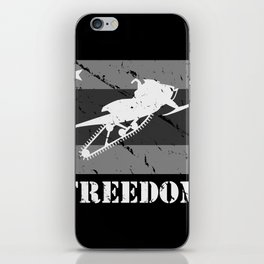 FREEDOM! Snowmobile iPhone Skin