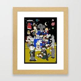 Dr Who Kiddies Framed Art Print