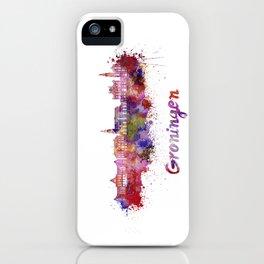 Groningen skyline in watercolor iPhone Case
