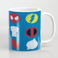 super heroes Mugs featuring Super Simple Heroes by Resistance