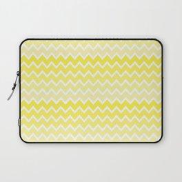 Yellow Ombre Chevron Laptop Sleeve