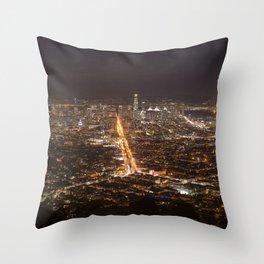 San Francisco, 11:00 pm Throw Pillow