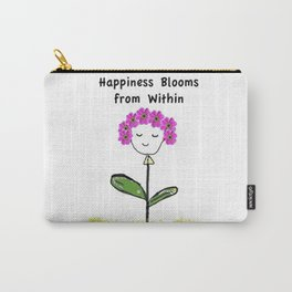 Happiness Blooms from Within Carry-All Pouch