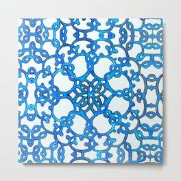 Blue Lace Metal Print