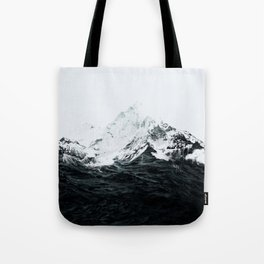 Those waves were like mountains Tote Bag