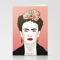frida Stationery Cards featuring Frida by Amanda Corbett