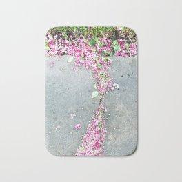 Pink  and Gray Bath Mat