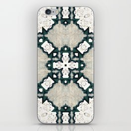Victorian Art Deco Medieval Pattern light gray SB21 iPhone Skin
