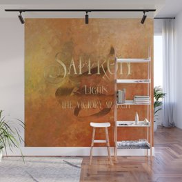 SAFFRON lights the victory march. Shadowhunter Children's Rhyme. Wall Mural
